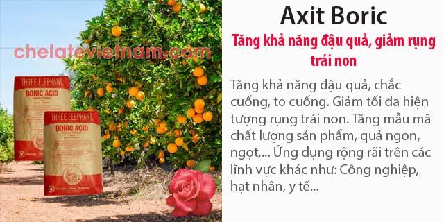 Bán Axit Boric - Tăng khả năng đậu quả, giảm rụng trái non