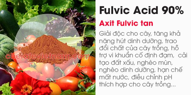Bán Axit Fulvic 90% (Fulvic Acid) tan trong nước